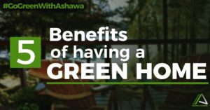 5 BENEFITS OF  HAVING  A GREEN HOME